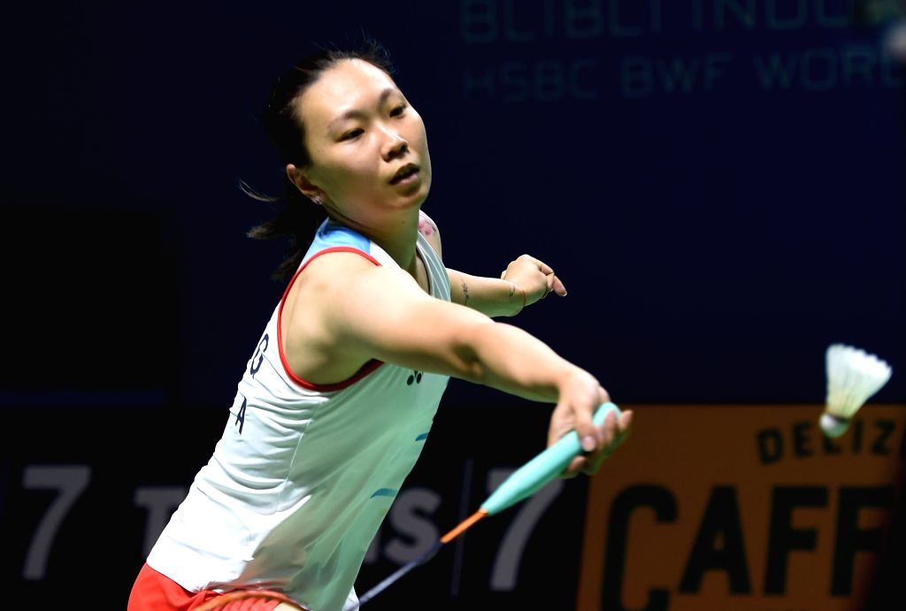JAKARTA, July 18, 2019 - Beiwen Zhang of the United States competes during women's singles second round match between Beiwen Zhang of the United States and He Bingjiao of China at the Indonesia Open ...