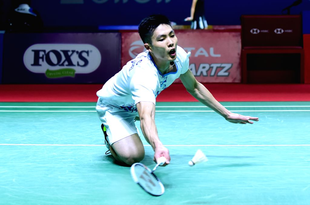 JAKARTA, July 18, 2019 - Chou Tien Chen of Chinese Taipei competes during the men's singles second round match between Lin Dan of China and Chou Tien Chen of Chinese Taipei at the Indonesia Open 2019 ...