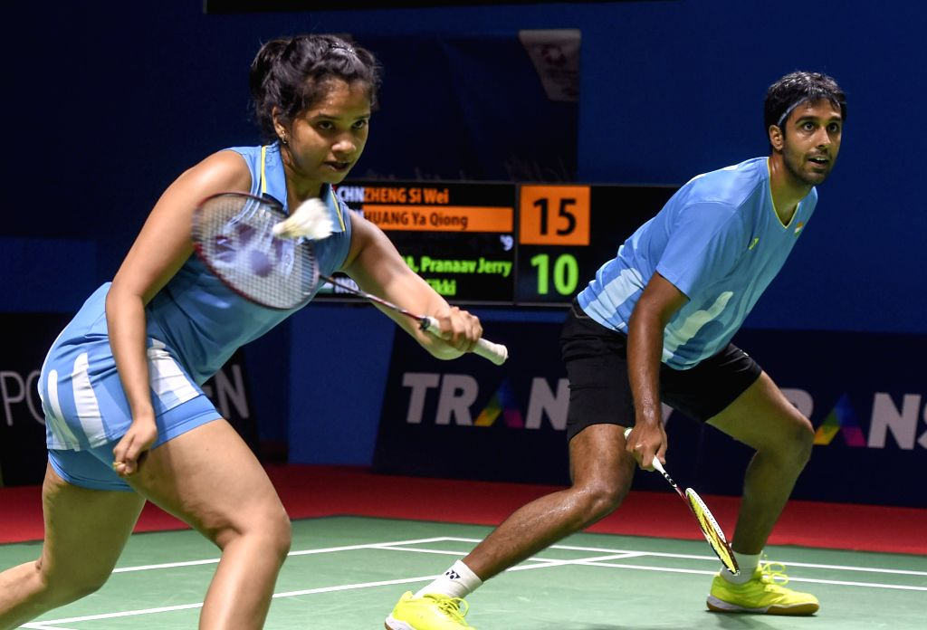 JAKARTA, July 18, 2019 - Pranaav Jerry Chopra (R)/Reddy N. Sikki of India compete during the mixed doubles second round match against Zheng Siwei/Huang Yaqiong of China at the Blibli Indonesia Open ... - Pranaav Jerry Chopra