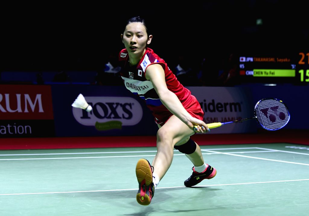 JAKARTA, July 18, 2019 - Sayaka Takahashi competes during the women's singles second round match between Chen Yufei of China and Sayaka Takahashi of Japan at the Indonesia Open 2019 badminton ...