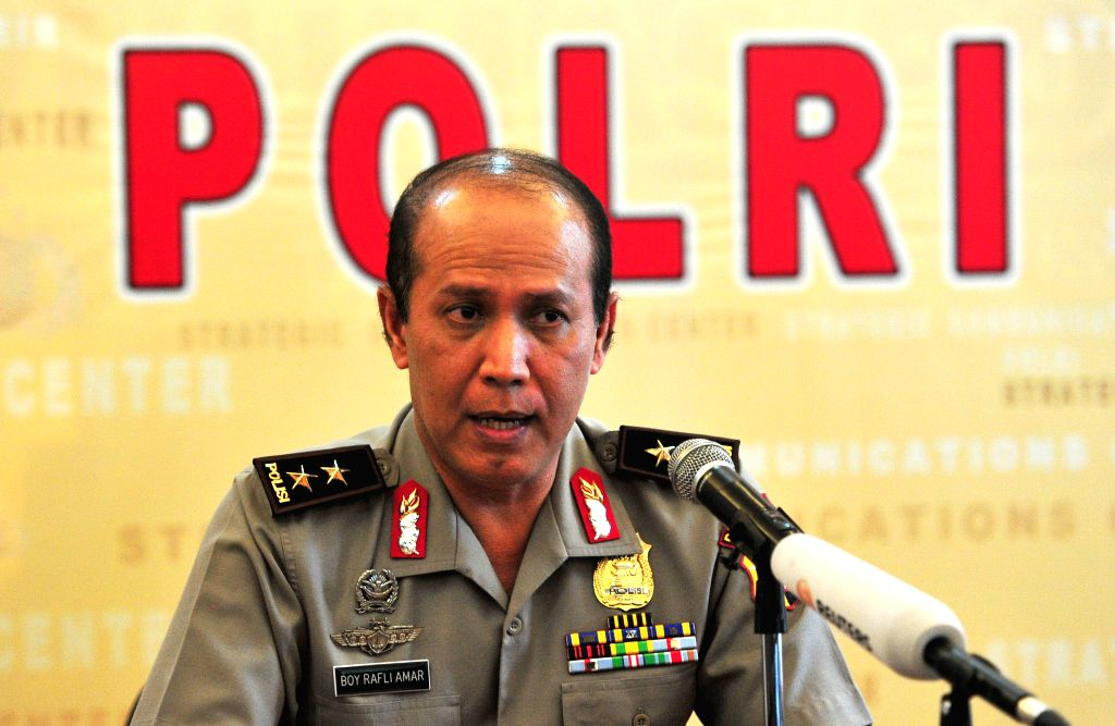 JAKARTA, July 19, 2016 - Indonesian National Police spokesman Maj. Gen. Boy Rafli Amar speaks to the media during a press conference at the National Police headquarters in Jakarta, Indonesia, July ...