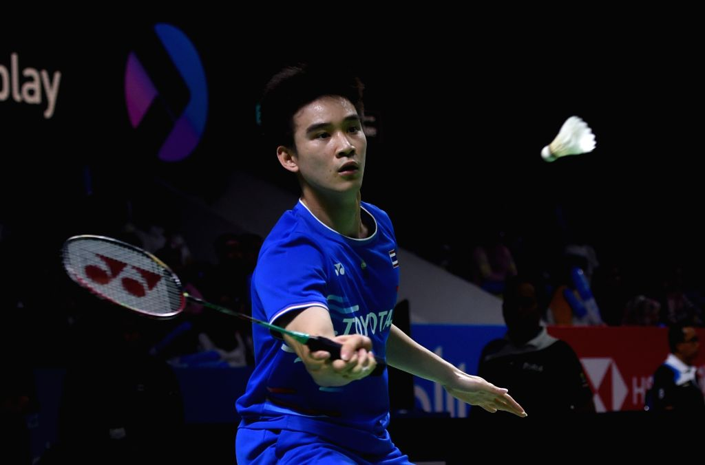 JAKARTA, July 19, 2019 - Kantaphon Wangcharoen of Thailand returns a shot during the men's singles quarterfinals match against Huang Yuxiang of China at the Blibli Indonesia Open 2019 badminton ...