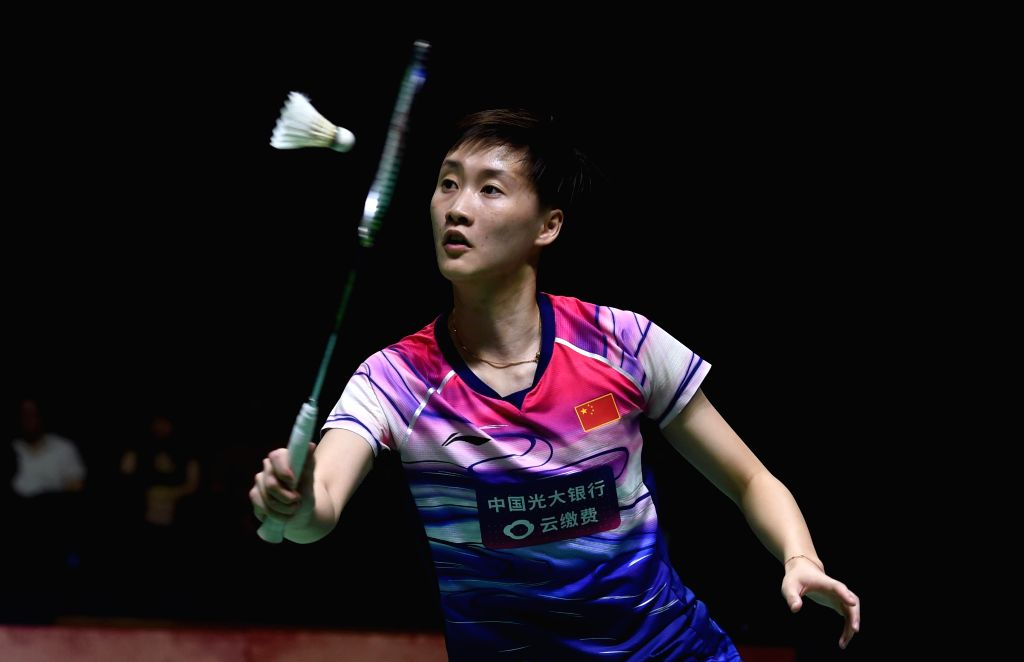 JAKARTA, July 20, 2019 - Chen Yufei competes during the women's singles semifinals match between Chen Yufei of China and Pusarla V. Shindhu of India at Indonesia Open 2019 badminton tournament in ...