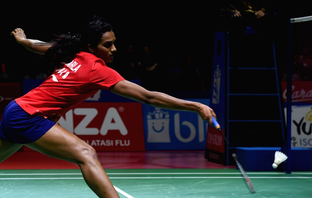 JAKARTA, July 20, 2019 - V. Shindhu Pusarla competes during the women's singles semifinals match between Chen Yufei of China and Pusarla V. Shindhu of India at Indonesia Open 2019 badminton ...