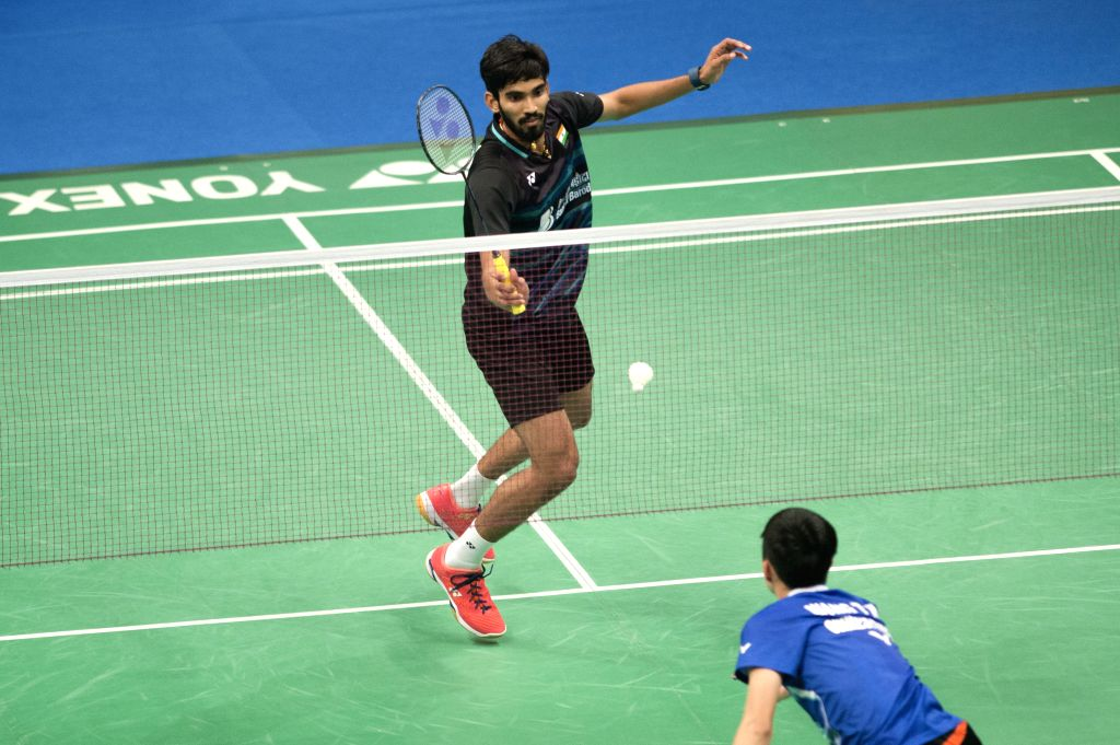 JAKARTA, June 16, 2017 - Kidambi Srikanth of India competes during the men's singles quarterfinal match against Tzu Wei Wang of Chinese Taipei at Indonesia Open 2017 in Jakarta, Indonesia, June 16, ...