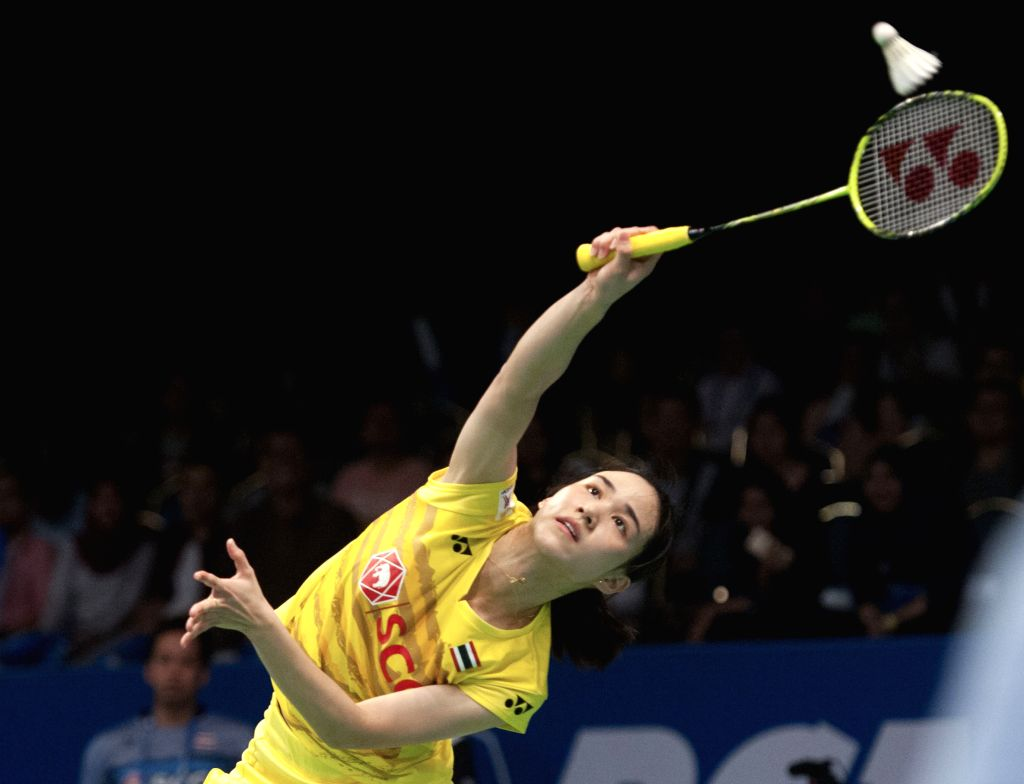 JAKARTA, June 16, 2017 - Nitchaon Jindapol of Thailand competes during the women's singles quarterfinal match against Tai Tzu Ying of Chinese Taipei at Indonesia Open 2017 in Jakarta, Indonesia, June ...