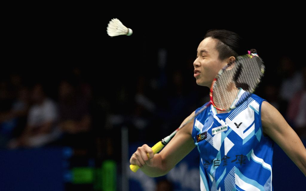 JAKARTA, June 16, 2017 - Tai Tzu Ying of Chinese Taipei competes during the women's singles quarterfinal match against Nitchaon Jindapol of Thailand at Indonesia Open 2017 in Jakarta, Indonesia, June ...