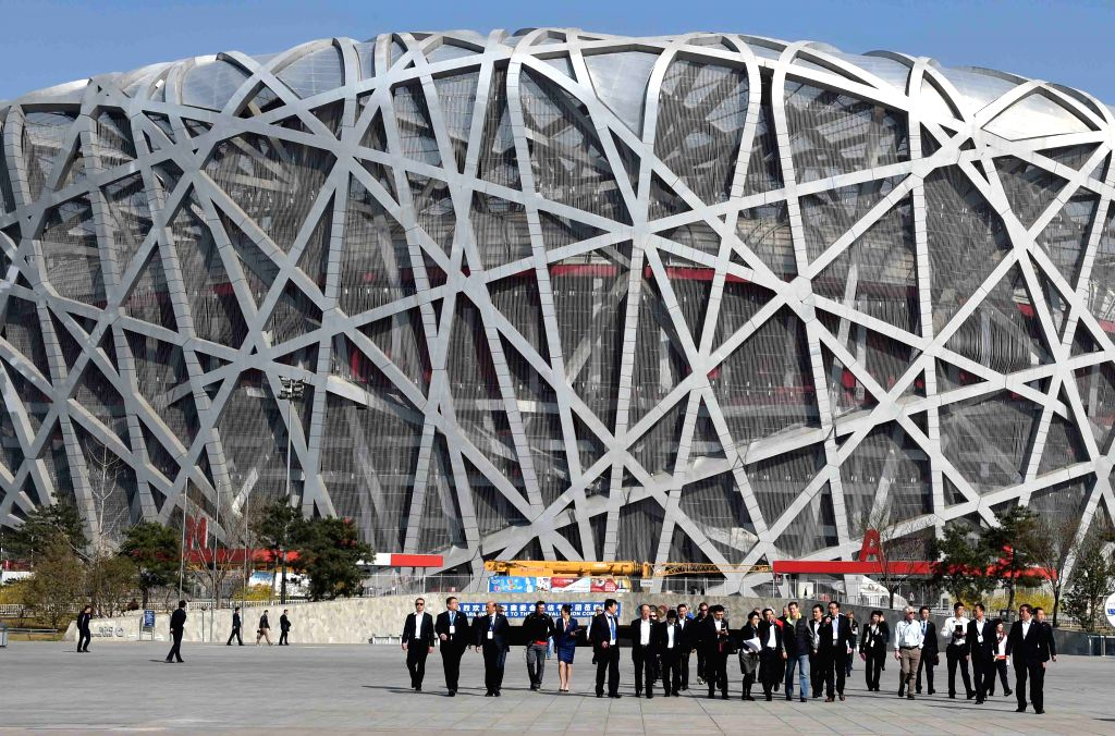 Members of the 2022 Evaluation Commission of the International Olympic Committee (IOC) visit the National Stadium in Beijing on March 24, 2015. The International ...