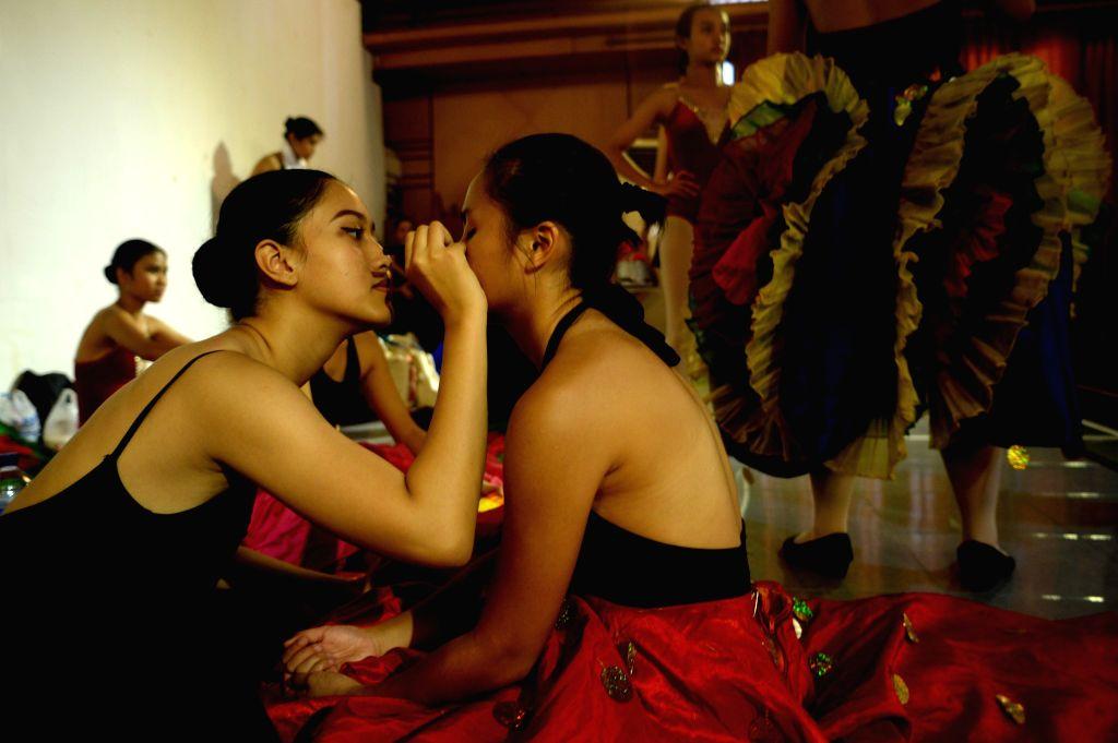 JAKARTA, Nov. 28, 2016 - Students prepare to train for celebration of 60th anniversary of Namarina Ballet School in Jakarta, Indonesia, Nov. 27, 2016. (Xinhua/Agung Kuncahya B.)