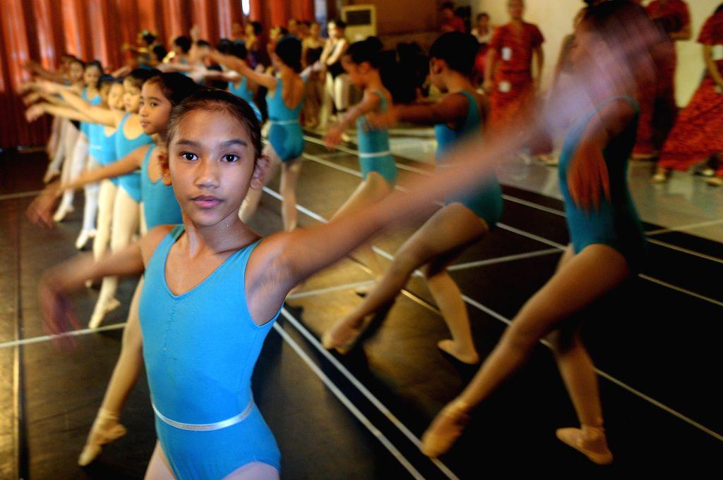 JAKARTA, Nov. 28, 2016 - Students train for celebration of 60th anniversary of Namarina Ballet School in Jakarta, Indonesia, Nov. 27, 2016. (Xinhua/Agung Kuncahya B.)