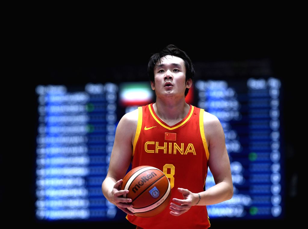 JAKARTA, Sept. 1, 2018 - Ding Yanyuhang of China competes during men's basketball final between China and Iran at the 18th Asian Games 2018 in Jakarta, Indonesia, Sept. 1, 2018.