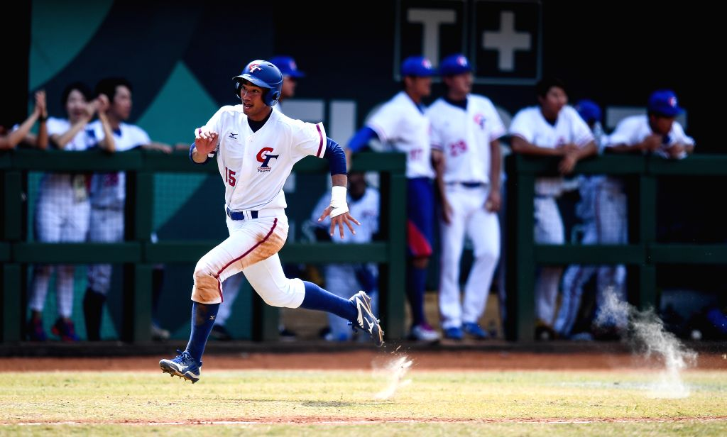 JAKARTA, Sept. 1, 2018 - Tai Juliang of Chinese Taipei competes during Baseball Men's Team Bronze Medal Match between China and Chinese Taipei at the 18th Asian Games in Jakarta, Indonesia on Sept. ...