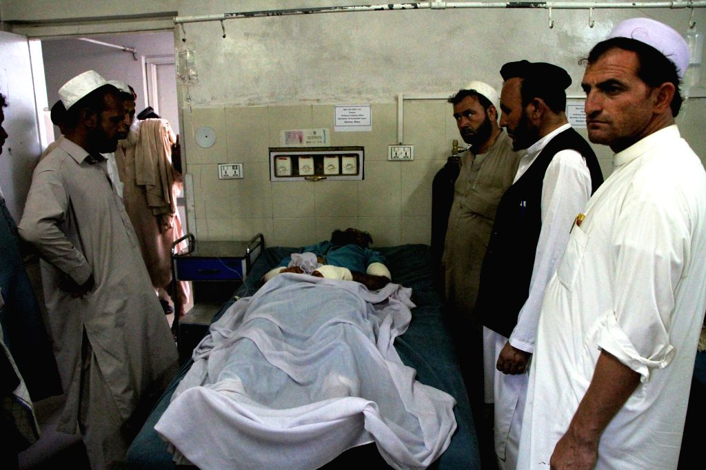 JALALABAD, July 6, 2017 - An injured man receives medical treatment at a local hospital after an attack in Nangarhar province, Afghanistan, July 6, 2017. Fourteen civilians were injured in a mortar ...