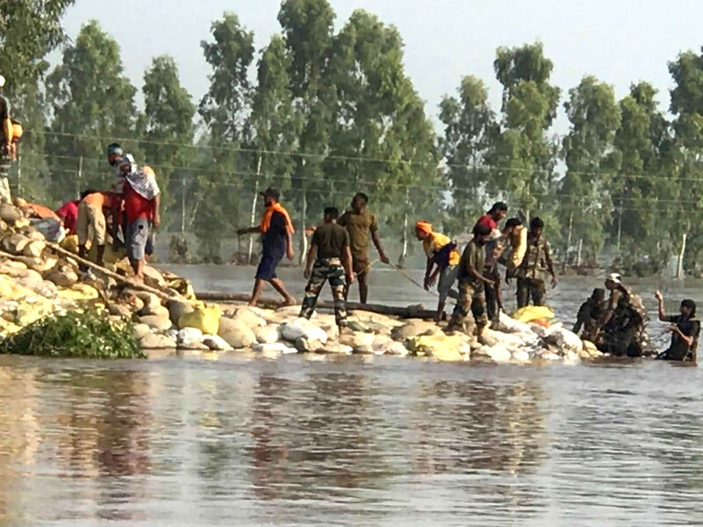 Jalandhar: Eco warrior Sant Balbir Singh Seechewal, who came into the global limelight after reviving the almost dead 160-km-long Kali Bein, a rivulet sacred to the Sikhs, reached up to the flood affected people in the waterlogged villages of Punjab.