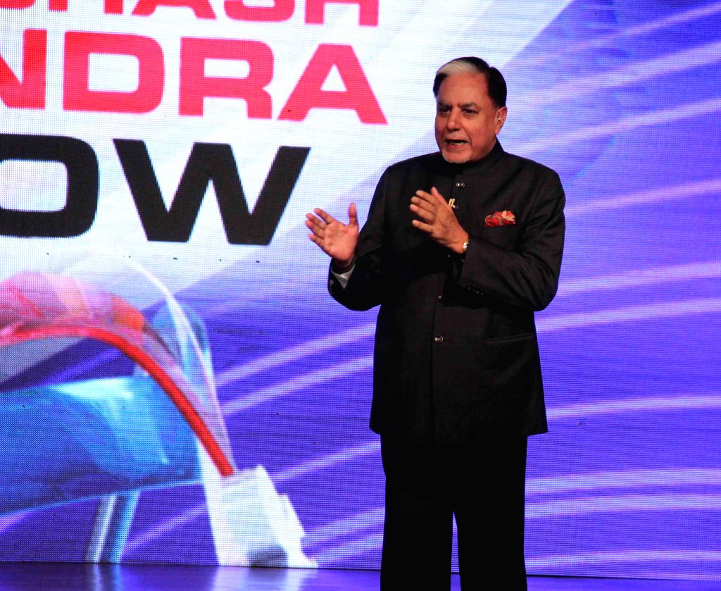 The chairman of Essel Group Subhash Chandra during a programme at a private university in  Jalandhar, Punjab on April 25, 2015.