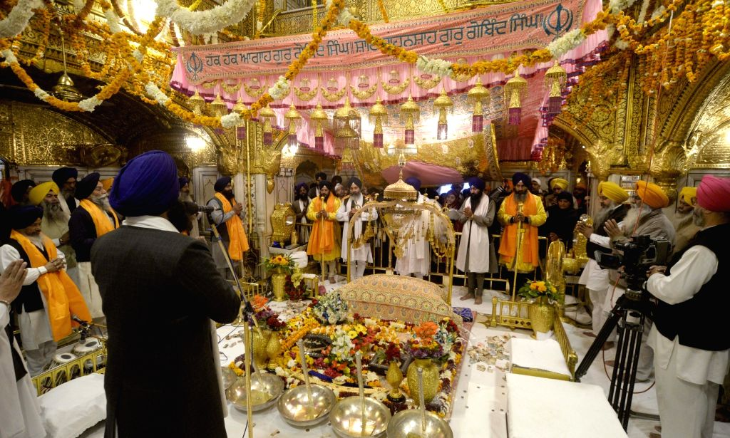 `Jalao` - display of precious jewellery and articles of ornamental beauty - at the Golden Temple on the occasion of birth anniversary celebration of the 10th Sikh Guru Gobind Singh in ...