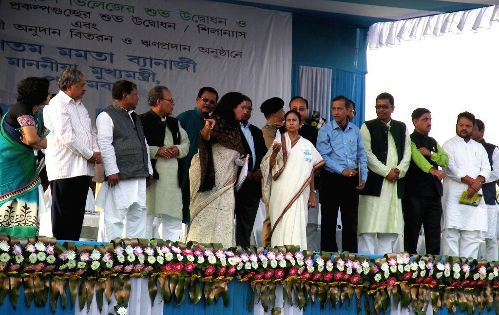 West Bengal Chief Minister Mamata Banerjee during a public meeting in Jalpaiguri of  West Bengal on Dec 3, 2014. - Mamata Banerjee