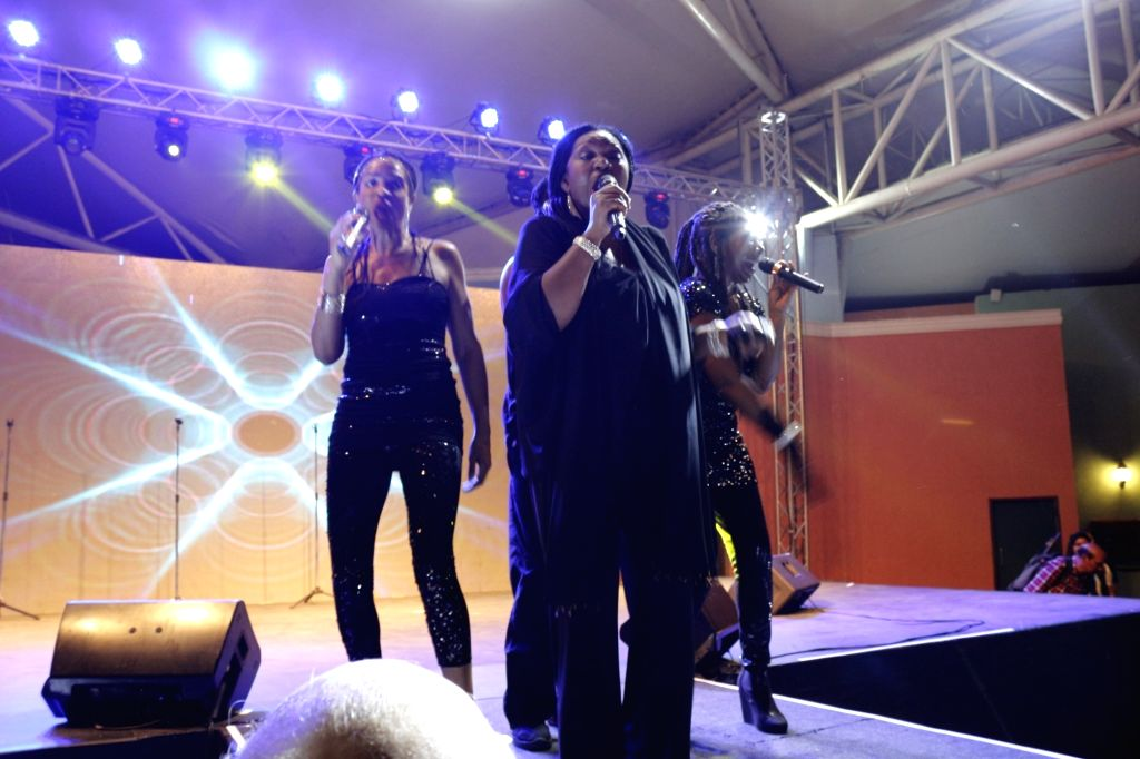 Jamaican born singer Liz Mitchell from the 1970s disco/pop band, Boney M performs during a concert in Mumbai, on November 21, 2015. Boney M is a vocal group created by German record producer ...