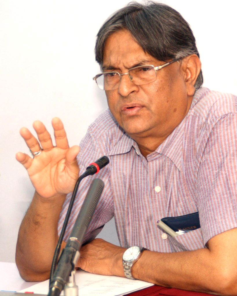Jamia Millia Islamia Vice-Chancellor Prof. Talat Ahmad during a press conference in New Delhi on July 16, 2014.