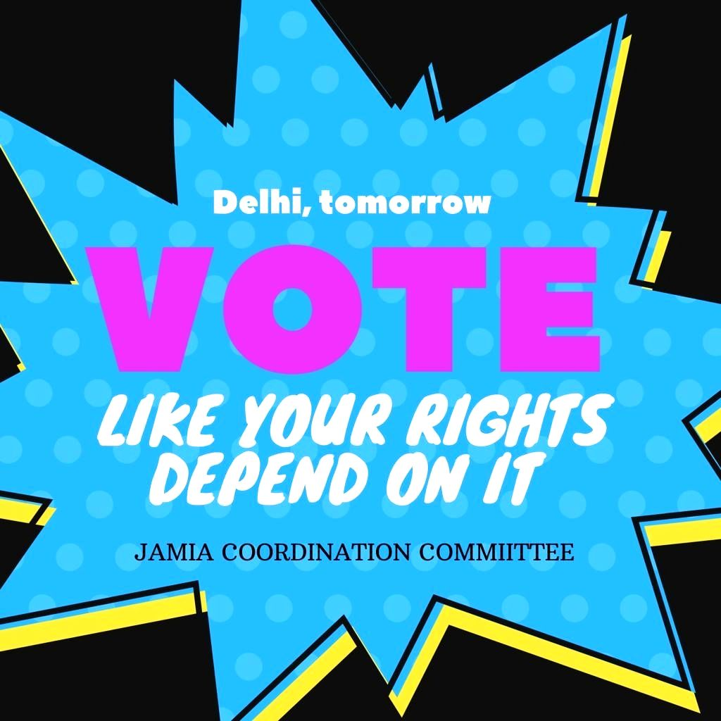 Jamia students shift protest, assure to facilitate voters.