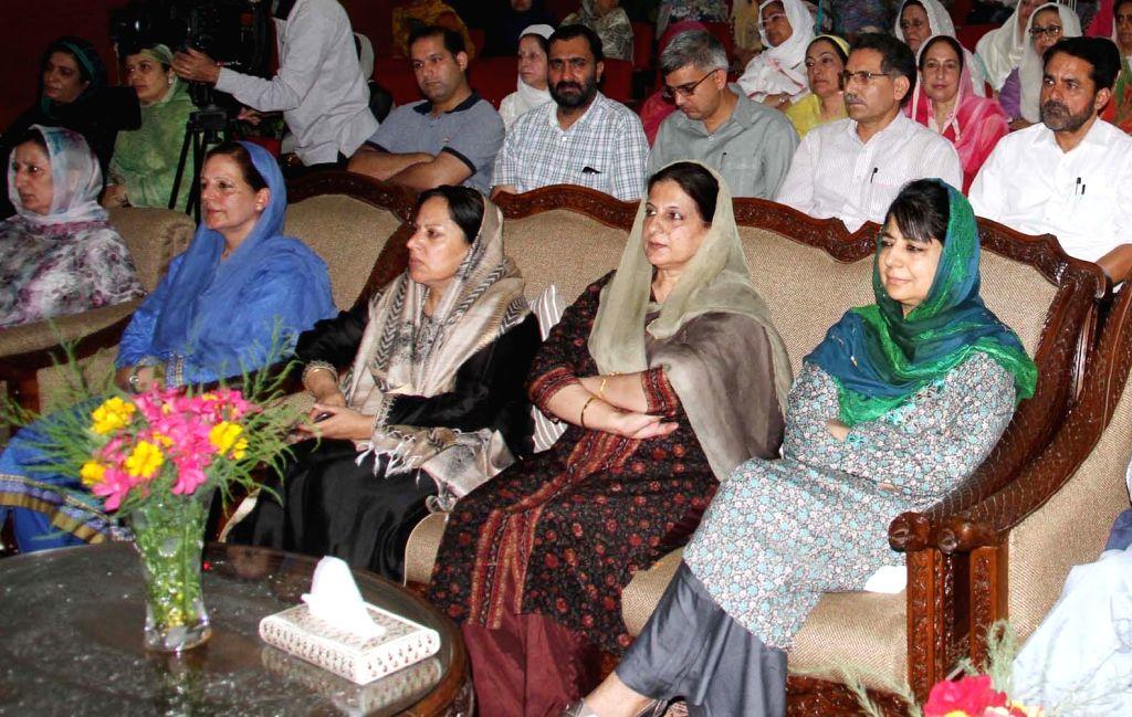 Jammu and Kashmir Chief Minister Mehbooba Mufti during a programme in Srinagar on June 25, 2016. - Mehbooba Mufti