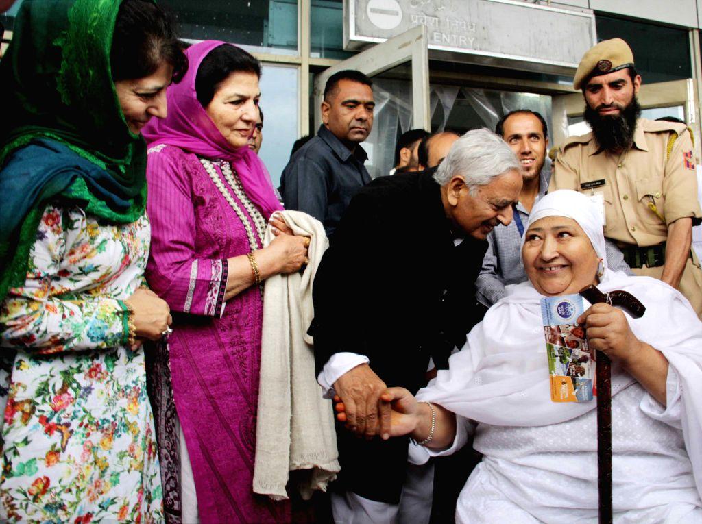 Jammu and Kashmir Chief Minister Mufti Mohammad Sayeed  from Srinagar on Aug 17, 2015. - Mufti Mohammad Sayeed