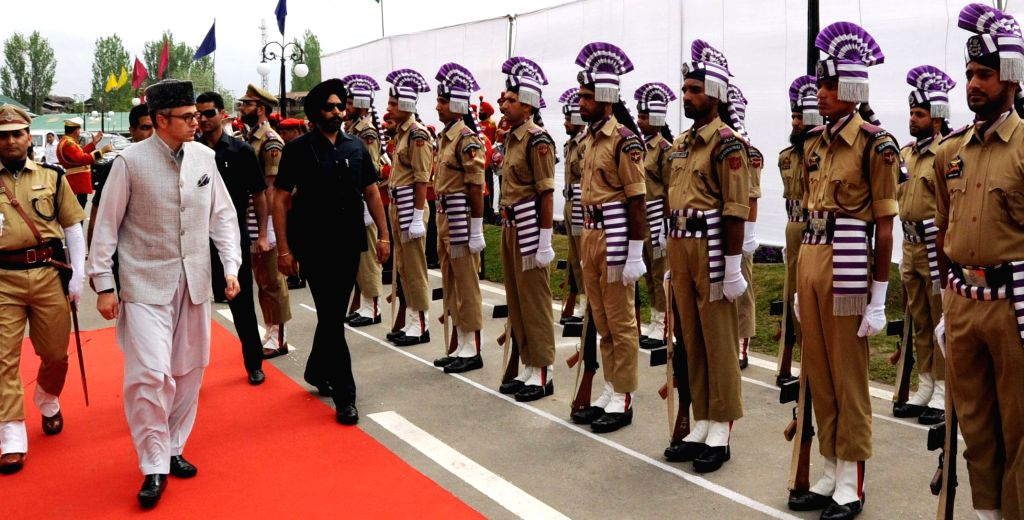 Jammu and Kashmir Chief Minister Omar Abdullah inspects Guard of Honour inside the Civil Secretariat premises as Jammu and Kashmir government started functioning from Srinagar after shifting from ... - Omar Abdullah