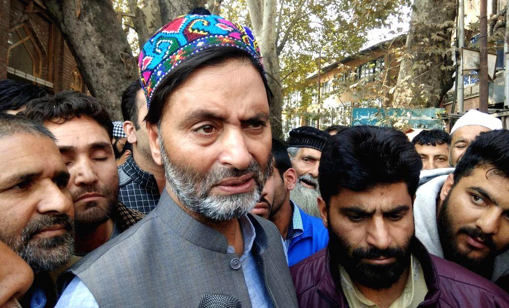 Jammu and Kashmir Liberation Front (JKLF) Chairman Muhammad Yasin Malik. (Photo: IANS) - Malik