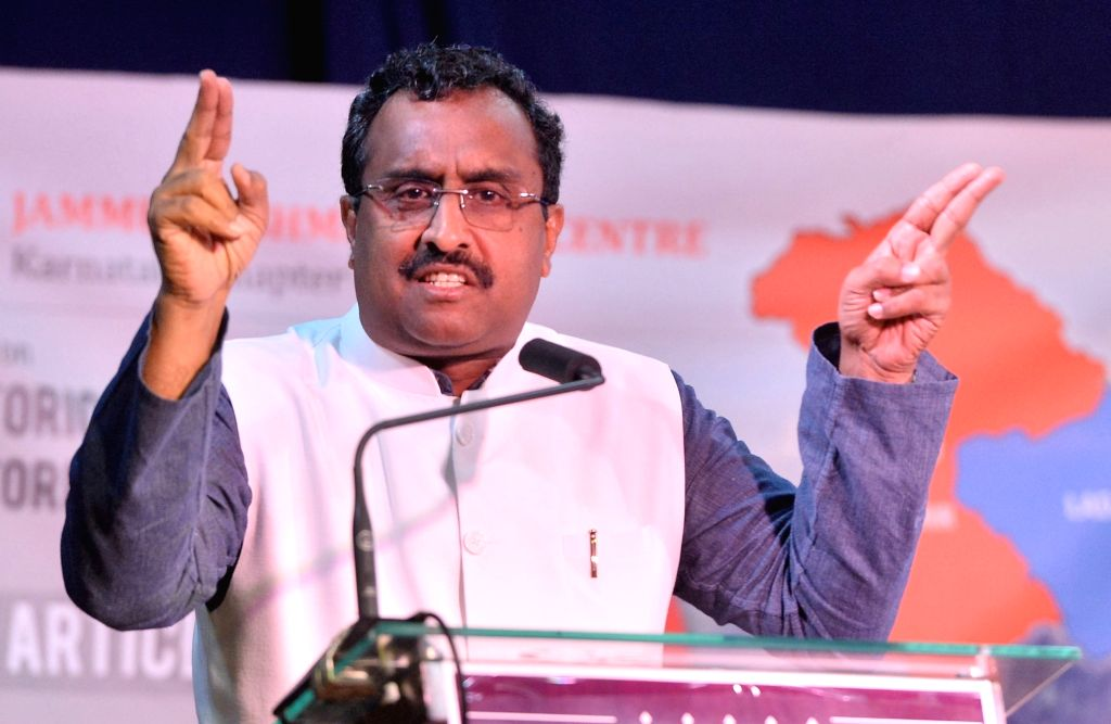 Jammu, June 4 (IANS) Political circles in Jammu and Kashmir are agog with the recent statement of BJP national General Secretary, Ram Madhav in which he said the union territory would soon have an elected Legislature.	 (File Photo: IANS)