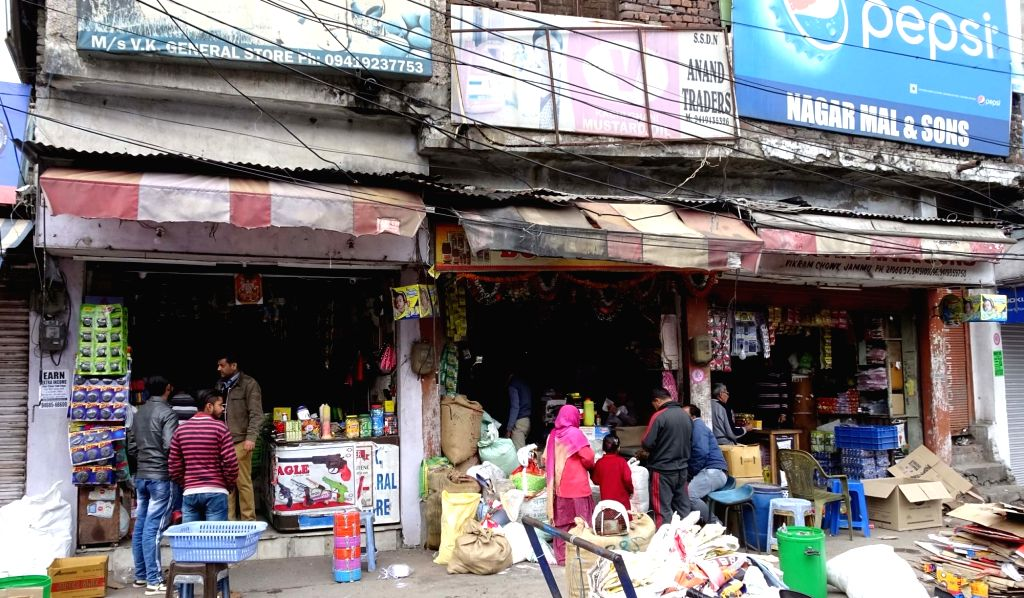 Jammu: The curfew in Jammu, which was imposed on February 15, relaxed temporarily in some parts of the city on Feb 18, 2019. (Photo: IANS)