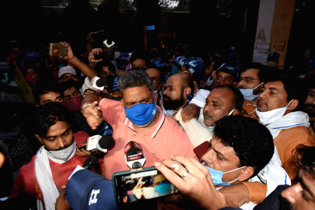 Jan Adhikar Party chief Pappu Yadav was arrested in Patna for allegedly violating the COVID-19 lockdown in the state in Patna on Tuesday, 11 May 11, 2021. - Pappu Yadav