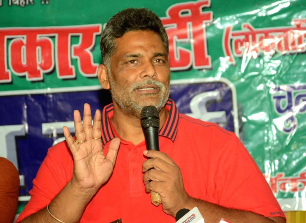 Jan Adhikar Party leader Rajesh Ranjan alias Pappu Yadav addresses a press conference in Patna on Sept 30, 2016. - Pappu Yadav
