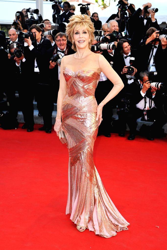 Jane Fonda at Cannes Film Festival.