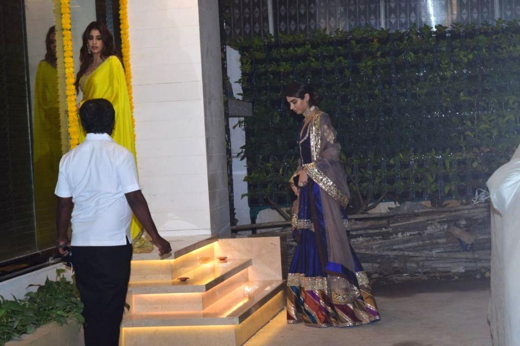 Janhvi And Khushi Kapoor at Boney Kapoor's Office in Mumbai's Andheri on November 14, 2020. - Kapoor