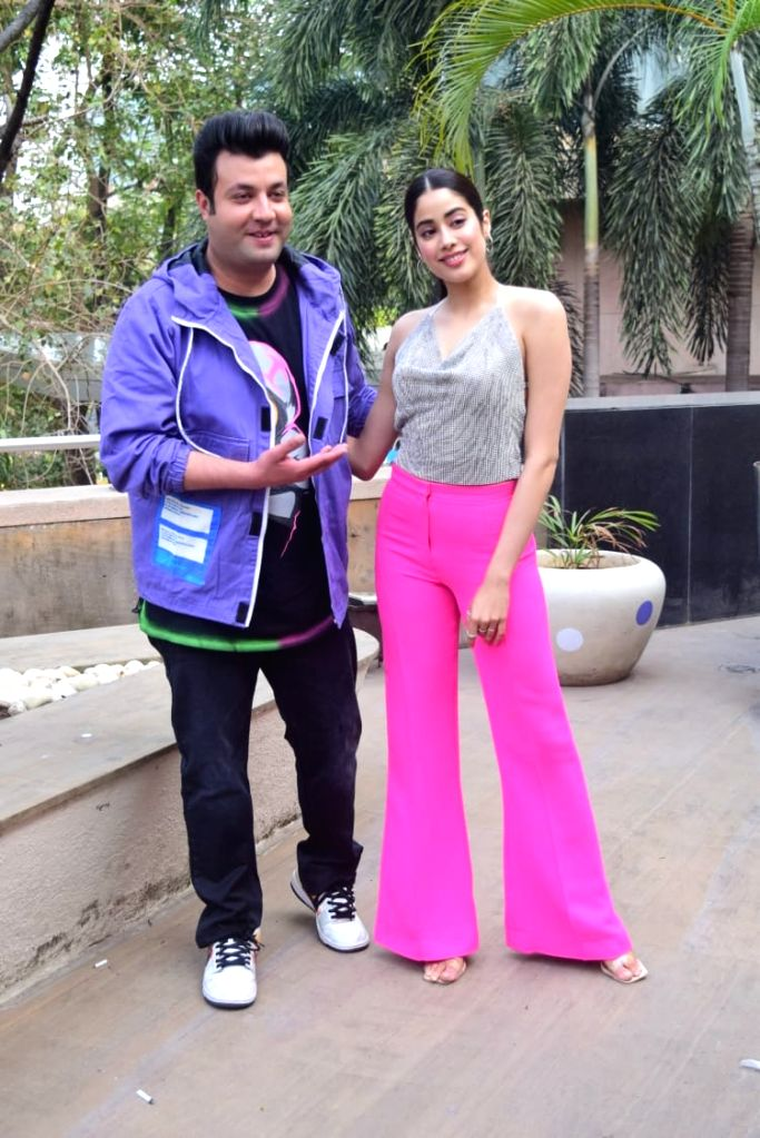 Janhvi Kapoor & Varun Sharma at Novotel on Thursday 25rd February 2021. - Janhvi Kapoor and Varun Sharma