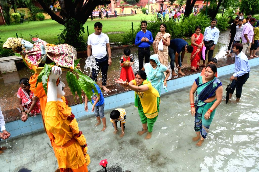 Janmashtami celebrations underway, in New Delhi on Sept 3, 2018.