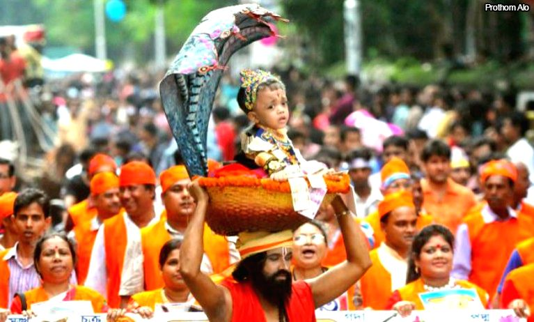 Janmashtami will be celebrated across B'desh on Tuesday with public Holiday.