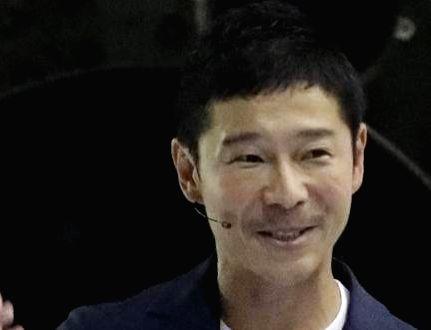Japanese billionaire Yusaku Maezawa.