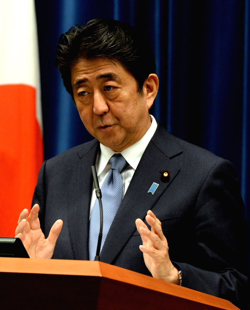 Japanese Prime Minister Shinzo Abe speaks during a news conference in Tokyo, Aug. 14, 2015. In a statement on Friday marking the 70th anniversary of the end of World ... - Shinzo Abe