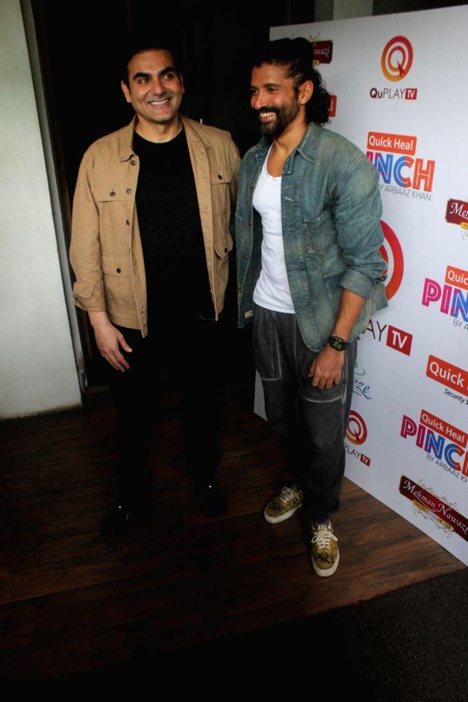 JArbaaz Khan And Farhan Akhtar spotted in Juhu, Mumbai on Thursday 25th February, 2021. - Farhan Akhtar