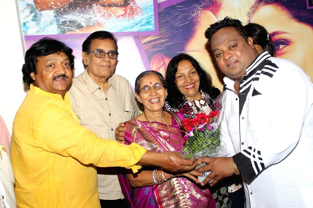 "Jashodaben Modi, wife of Prime Minister Narendra Modi during a press show of film ""Yeh Kaisi Hai Aashiqui"" in Mumbai. - Narendra Modi and Jashodaben Modi"