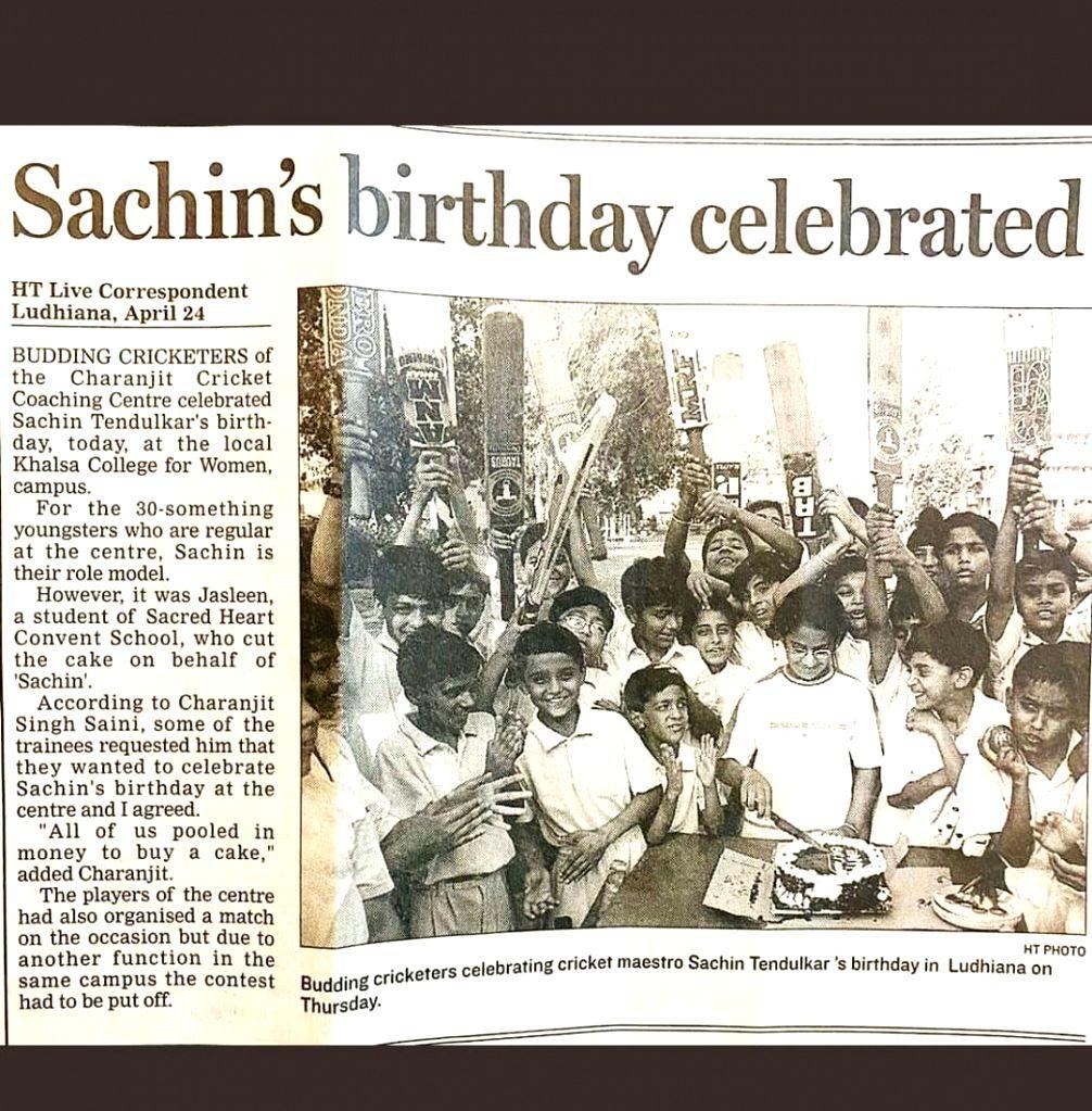 Jasleen Royal recalls cutting Tendulkar's bday cake when she was 10.