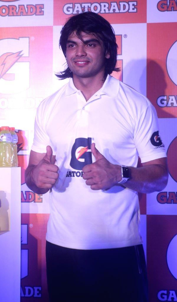 Javelin thrower Neeraj Chopra during a promotional programme, in New Delhi on Sept 11, 2018. - Neeraj Chopra