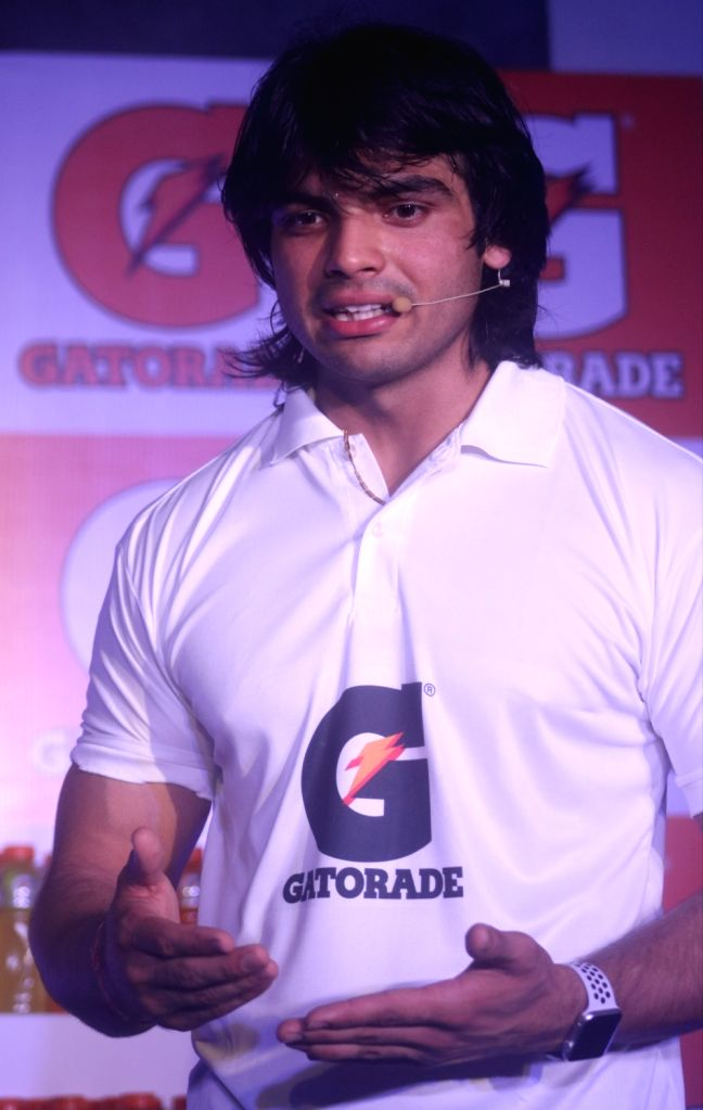 Javelin thrower Neeraj Chopra who bagged a gold and two silvers at the 18th Asian Games; during a promotional programme, in New Delhi on Sept 11, 2018. - Neeraj Chopra