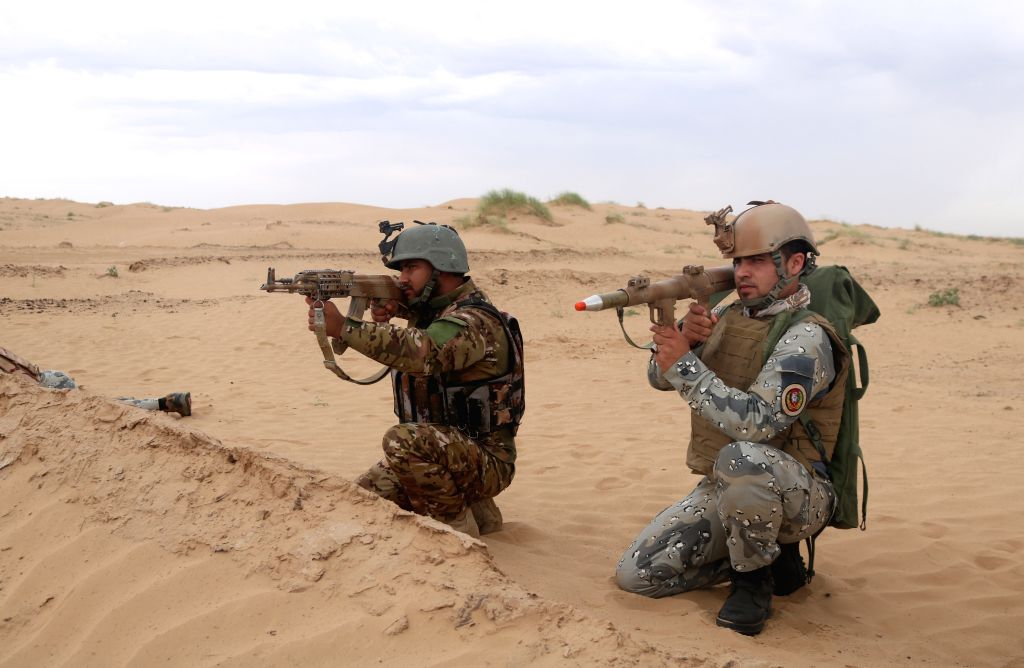 JAWZJAN, May 26, 2019 - Members of the Afghan security force take part in an operation in Jawzjan province, Afghanistan, May 25, 2019. Fighting rages across the war-torn country and clashes between ...