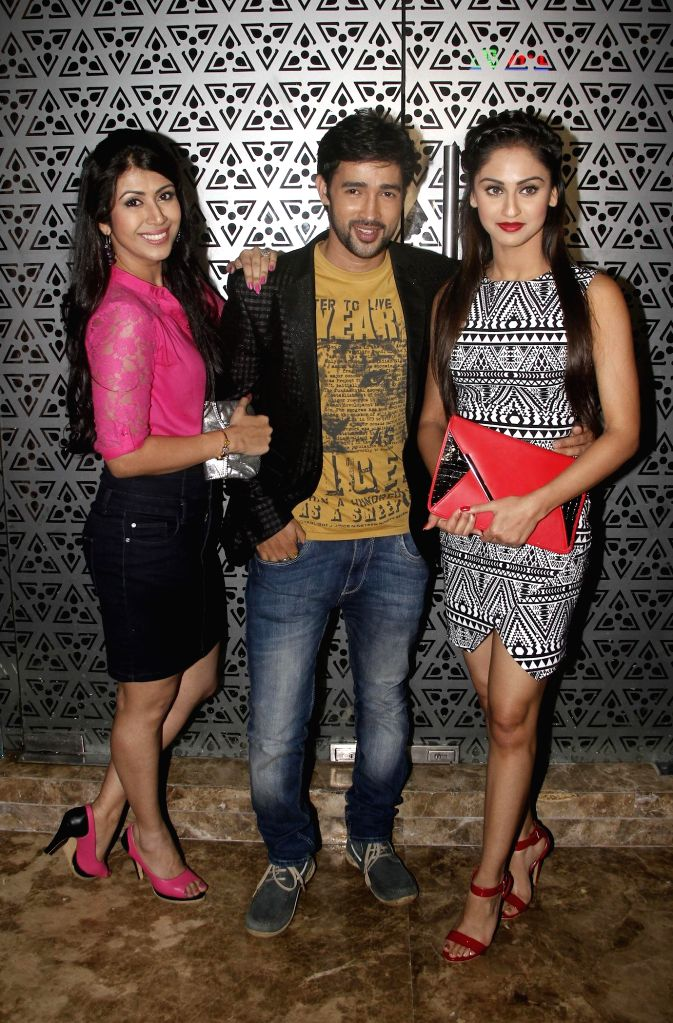 Jay Soni with Krystal Dsouza during the hosted a party by Aneel Murarka in Mumbai, on Sept. 5, 2014.