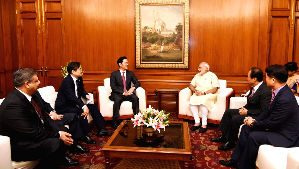 Jay Y. Lee, Vice Chairman, Samsung Electronics Co., Ltd., met Prime Minister Narendra Modi in New Delhi on Thursday. He said Samsung continues to view India as an important strategic partner. (Photo: ... - Narendra Modi