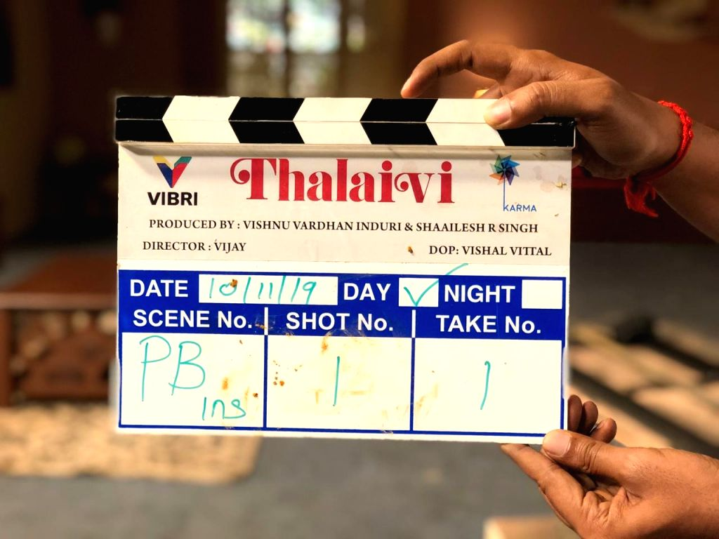 "Jayalalitha Biopic Titled ""Thalaivi"" Shoot Begins In Chennai."