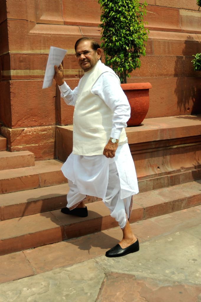 JD(U) chief Sharad Yadav at the Parliament in New Delhi on July 15, 2014. - Sharad Yadav
