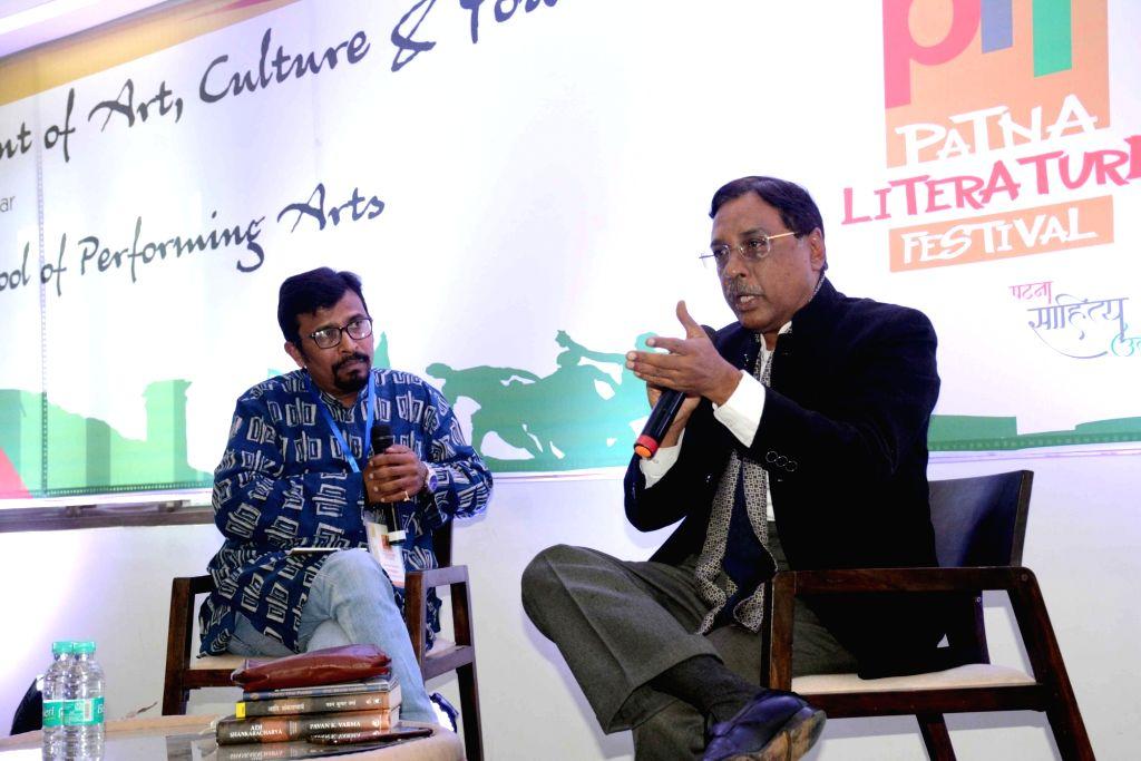 JD(U) leader Pavan K. Varma during Patna Literature Festival on Feb 1, 2019.